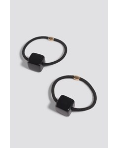 Dice Detailed Hairbands (2-pack) Black