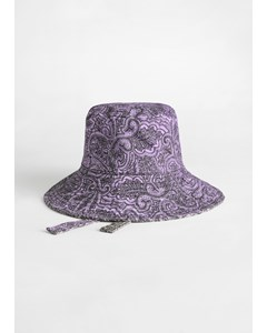 Paisley Bucket Purple