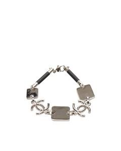 Chanel Cc Metal Bracelet Silver
