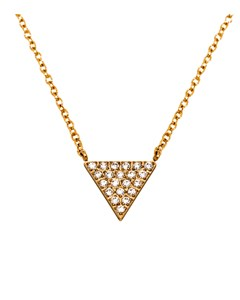 Mountain Necklace Long Gold