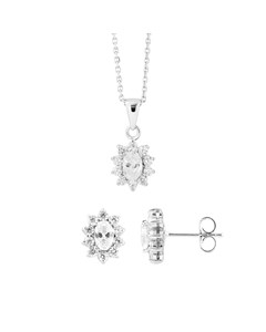 Be Loved - Silver Zirconium Set - Woman