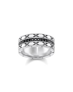 Ring Asian Ornaments 925 Sterling Silver, Blackened