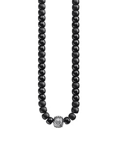 Necklace Power Necklace Ethnic Black 925 Sterling Silver, Blackened