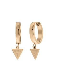 Guess Ohrringe, Edelstahl, rotvergoldet, Dreieck, 15 mm