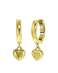 Guess Stalen Goldplated Oorbellen Hart 15mm