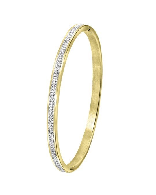GUESS Guess Stalen Armband Bangle Goldplated Kristal