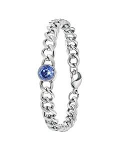 Stalen Armband Met Licht Blauwe Zirkonia