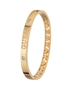 GUESS Bangle-Armreif aus Edelstahl vergoldet Heart