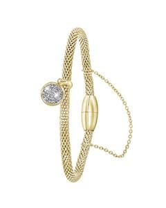 Armband aus vergoldetem Edelstahl/Mesh mit Kristall