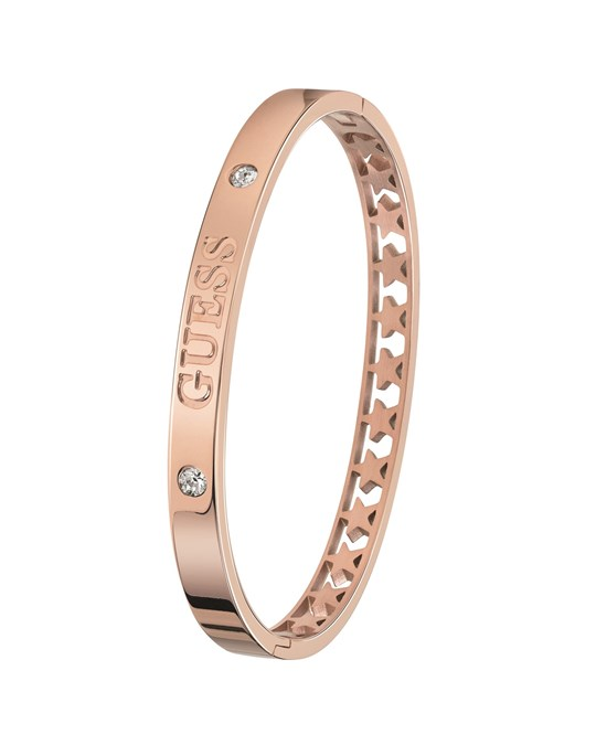 GUESS Guess Stalen Armband Bangle Roseplated Star
