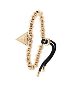 Guess Armband aus Edelstahl, Kordeloptik, rotvergoldet, Dreieck