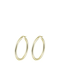 Stalen Oorbellen Goldplated 15mm