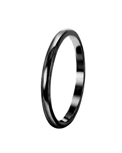 Zilveren Ring Blackplated
