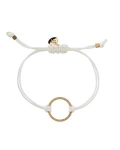 Circle Cord Bracelet White/gold
