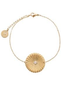 Crinkle Bracelet Matt Gold