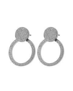 Valerie Earrings Sparkle Steel