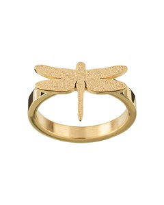 Dragonfly Ring Sparkle Gold