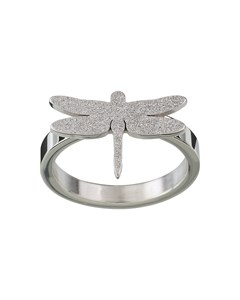 Dragonfly Ring Sparkle Steel