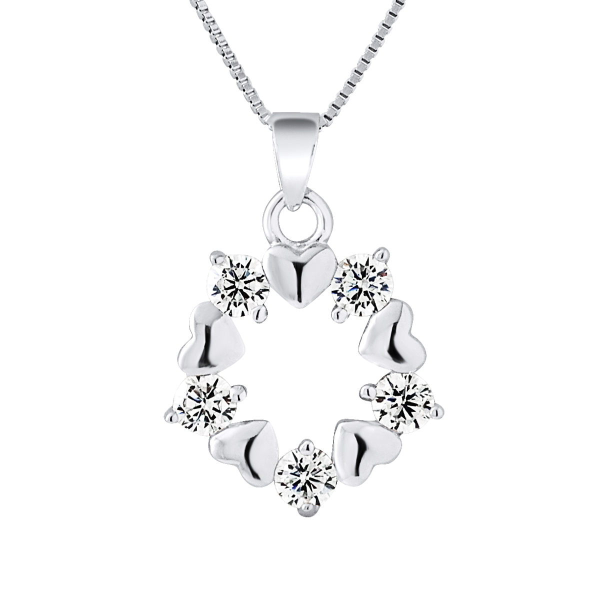 Flower Necklace In 925 Silver | Upp till 70% |