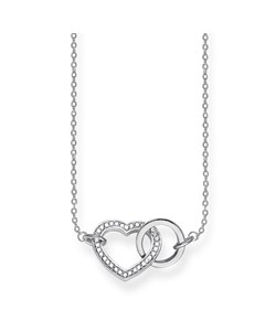 Necklace Together Heart Medium 925 Sterling Silver