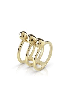 """Vergoldeter Ring der Marke GUESS """"Influencer"""""""