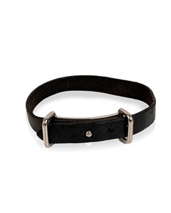 Hermes Vintage Black Leather Bracelet Single Tour Palladium Buckle