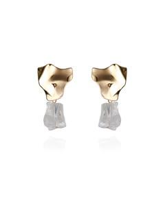Rock Earrings Gold
