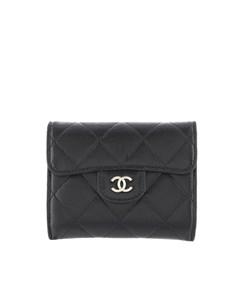 Chanel Matelasse Lambskin Leather Coin Purse Black
