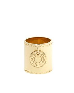 Hermes Gold Charm Scarf Ring Gold