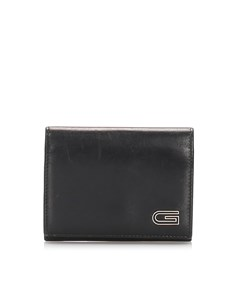Gucci Leather Card Holder Gray