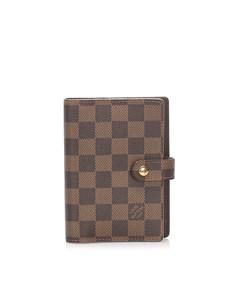 Louis Vuitton Damier Ebene Small Ring Agenda Brown