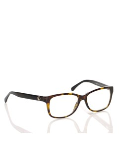 Chanel Tortoiseshell Square Optical Frame Brown