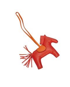 Hermes Grigri Rodeo Bag Charm Red