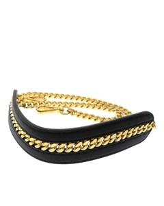 Fendi Strap You Leather Chain Bag Strap Black