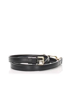 Louis Vuitton Leather Adjustable Shoulder Strap Black