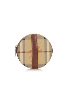 Burberry Haymarket Check Coin Pouch Brown
