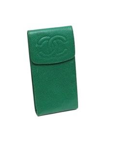 Chanel Cc Caviar Case Green
