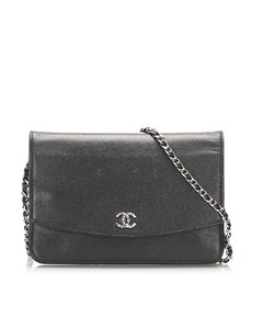 Chanel Cc Caviar Wallet On Chain Black