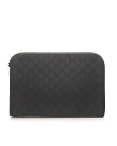 Gucci Gg Nylon Ipad Case Black