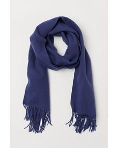 Gilda wollen sjaal blauw