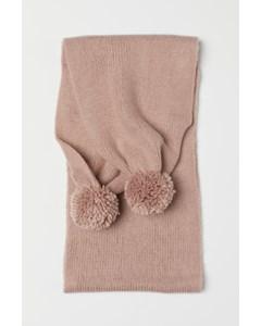 Daisy Pom Pom halsduk rosa