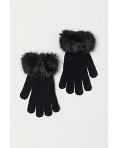 Charlie Chenille Handschoenen Zwart
