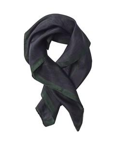 Forest Silk Scarf Black