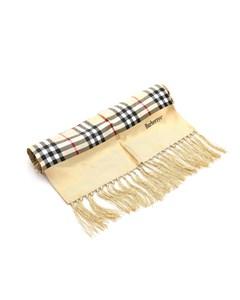 Burberry Haymarket Check Silk Scarf Brown