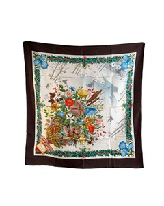 Gucci Vintage Floral Silk Scarf Accornero Agrifoglio 1973