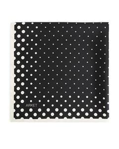 Printed Silk Scarf Black/off White