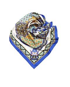 Hermes Ciels Byzantins Silk Scarf Blue