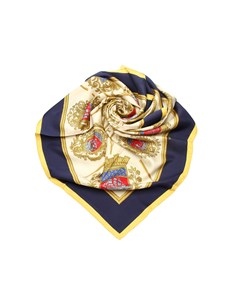 Hermes Les Armes De Paris Silk Scarf Yellow