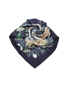 Hermes Passiflores Silk Scarf Blue