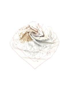 Hermes Cheval Surprise Silk Scarf White
